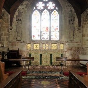 The restored and extended chancel