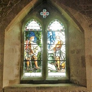 2-light stained glass window