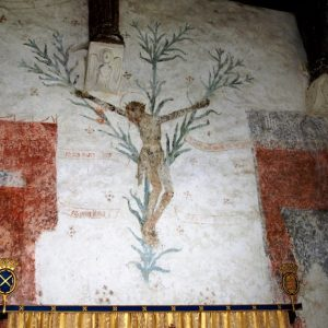 The 'lily cross' wall painting