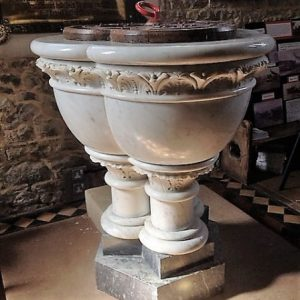 Sicilian marble font