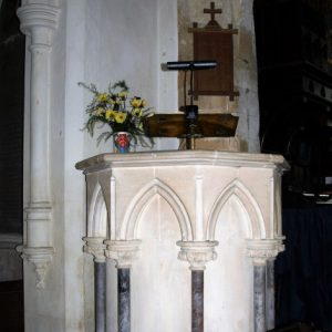 The restored pulpit