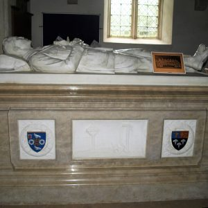 Chest tomb of young soldier