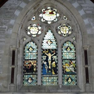 The historically important east window