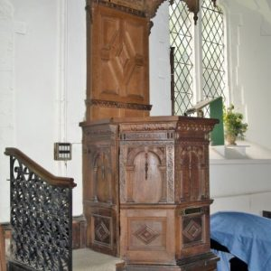 The Jacobean pulpit and tester