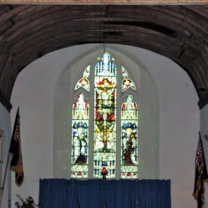 The east window in the chancel