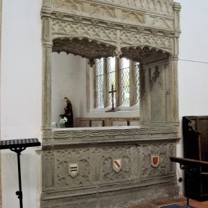 Hopton tomb chancel side