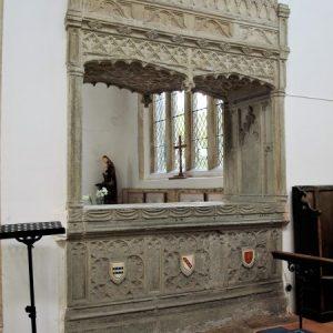 Hopton tomb chancel side