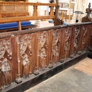 Carved choir stalls
