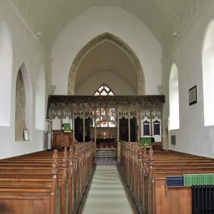The nave and chancel screen