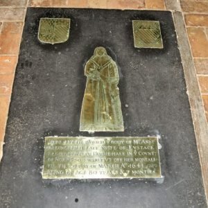 Chancel floor brass