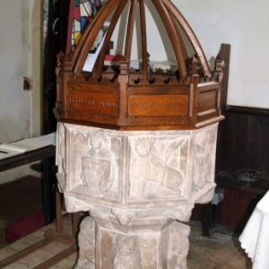 Early 15th century octagonal font