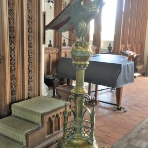 The brass eagle lectern