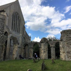 Another view of the Norman chancel ruins