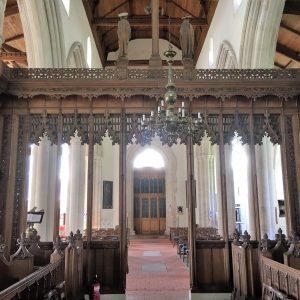 The rood screen from the chancel