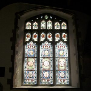 Stained glass Flemish roundels