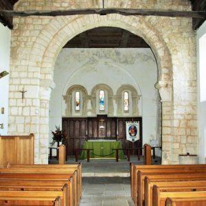the 11th century chancel arch