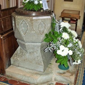The Victorian font made of Devonshire marble