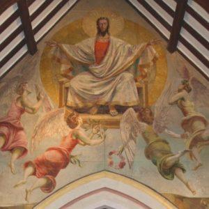 Berwick Christ in Majesty mural