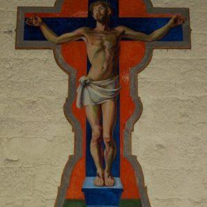 The Crucifixion mural at Berwick
