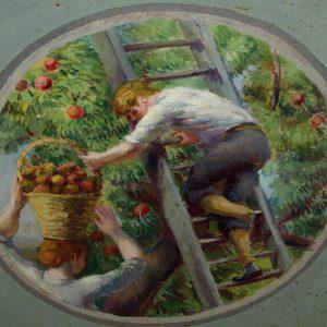 One of the 'four seasons' murals at Berwick