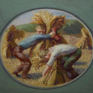 Berwick mural depicting harvest time