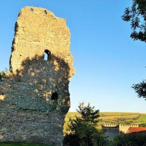 Remains of Bramber castle gatehouse