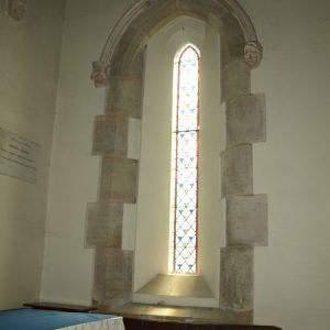 A 13th century lancet in the chancel