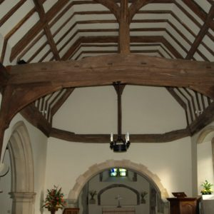 14th century king-post roof