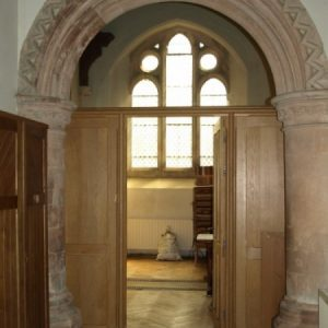 Late 12th century arch to north chapel