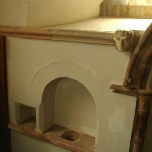 The piscina in the chancel