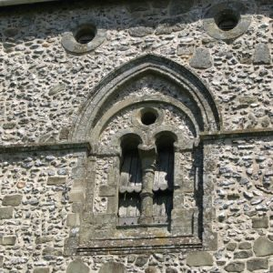 Bell opening on the tower south wall