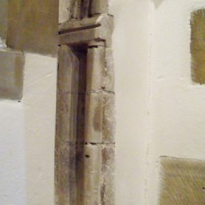 part of a medieval arch in the nave