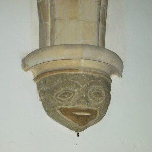late 12th century grotesque face