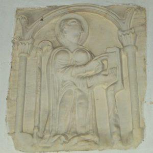 12th century limestone bas-relief