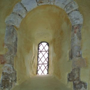 The Saxon window from inside