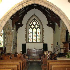 The full width chancel arch