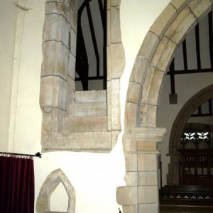 Part of the rood stairs