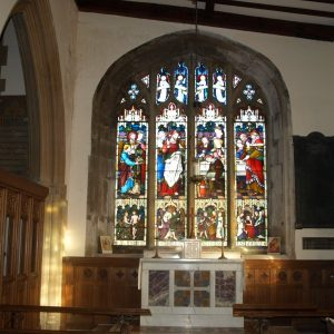 The east window of the Lady Chapel