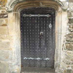The doorway to the Oxenbridge chapel