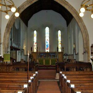 Original 13th century chancel arch