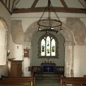 the Saxon chancel arch