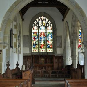 The 14th century chancel arch