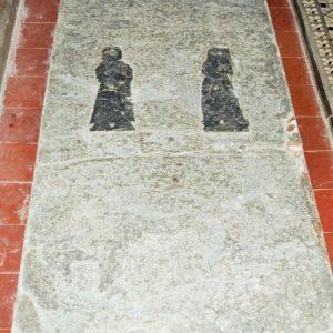 Ledger slab in nave floor