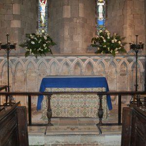 The restored chancel