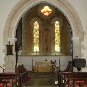 Nave and 'weeping' chancel