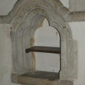 Double piscina in the chancel
