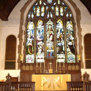 The east window at Mayfield church