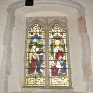 15th century window in the north wall of the nave