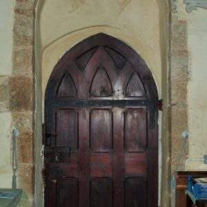 The south door with very tall rere-arch
