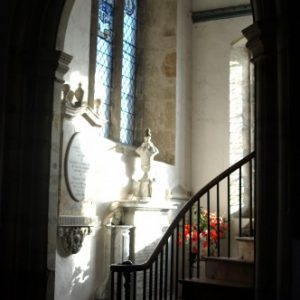 Staircase to the 'Squire's Pew'